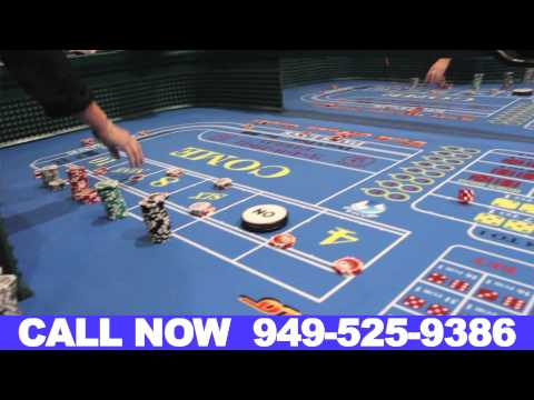 Craps Table Rentals Orange County California (949) 525-9386