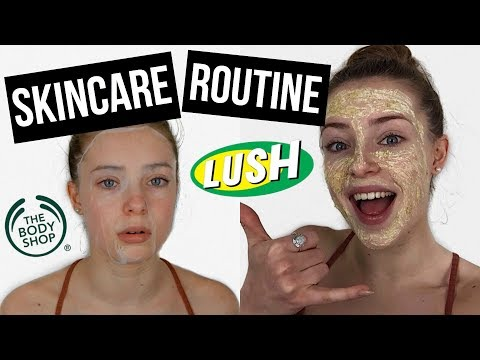 SKINCARE ROUTINE 2017 | DRUGSTORE, LUSH, THE BODY SHOP | daily & weekly skincare routine