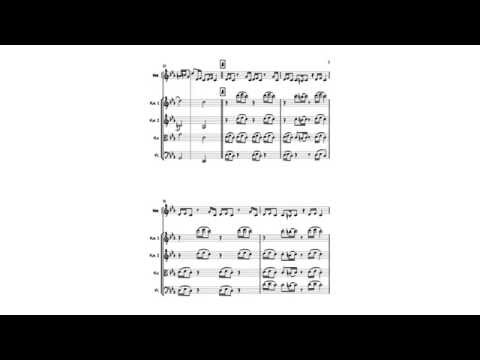 Croatian Rhapsody marimba and string quartet music sheet