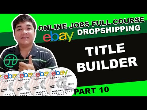 Ebay Dropshipping Title Builder Optimization Online Jobs Tutorial (ENG/SUB) thumbnail