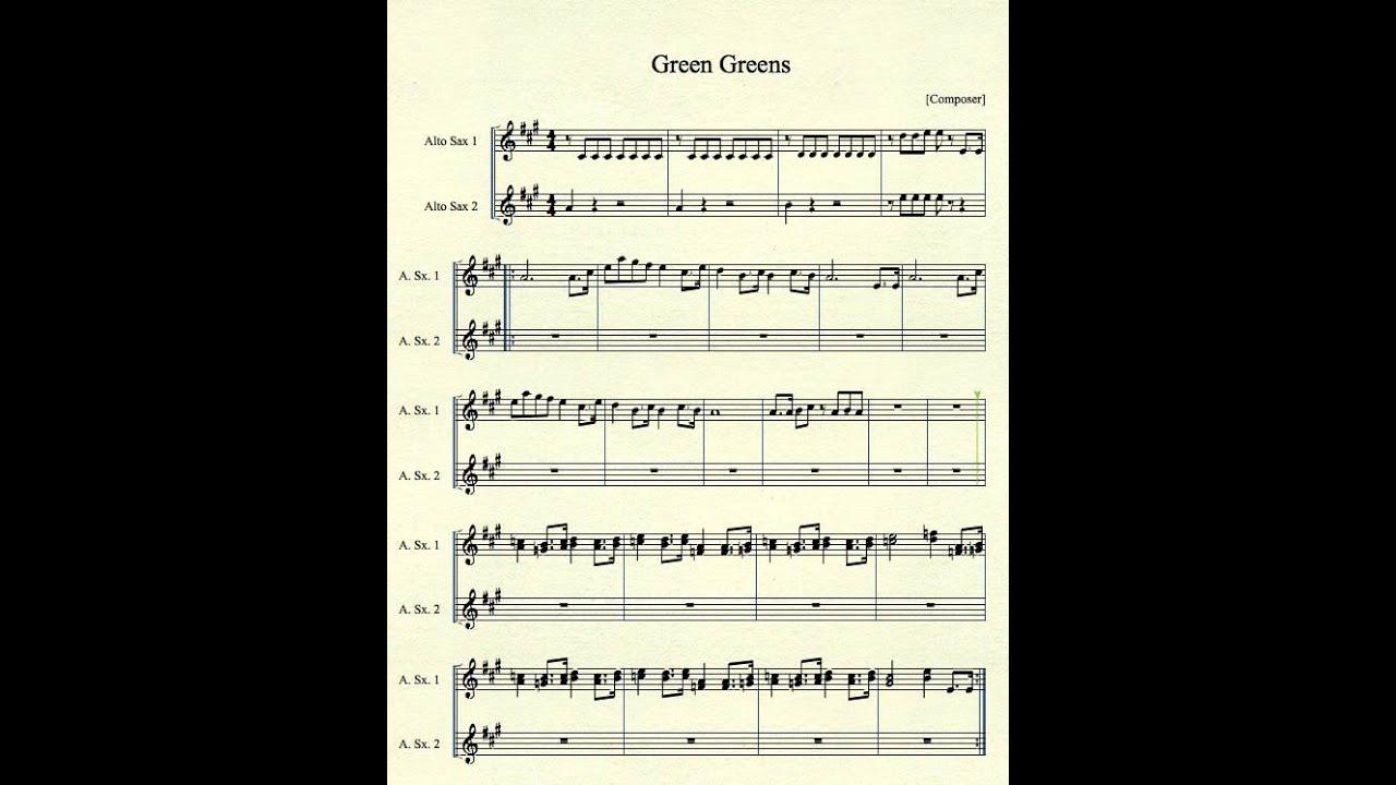 Green Greens for Alto Sax - YouTube