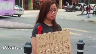 Repeat youtube video I'm HIV positive, would you hug me? | Malaysia Social Experiment