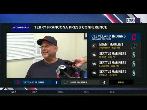Terry Francona's postgame comments following the Indians win over the Marlins