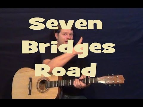 Seven Bridges Road (The Eagles) Guitar Lesson Easy Strum Chord How to Play Tutorial
