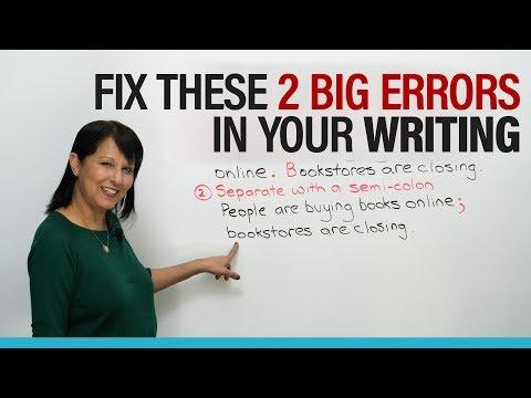 Fix two BIG errors in English writing!