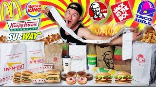 Download LETTING 15 PEOPLE IN FRONT OF ME DECIDE WHAT I EAT! (FAST FOOD CHALLENGE) Mp3 and Videos