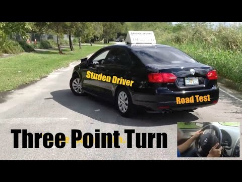 How to Make a Three Point Turn-Road Test -Driving Test