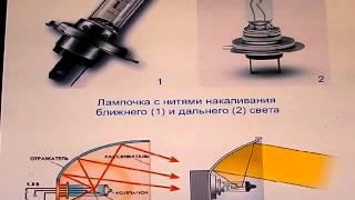 видео H7 лампа ближнего света