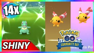 14x SHINY TOTODILE CAUGHT + CHINGLING HATCH during COMMUNITY DAY EVENT in Pokemon Go!