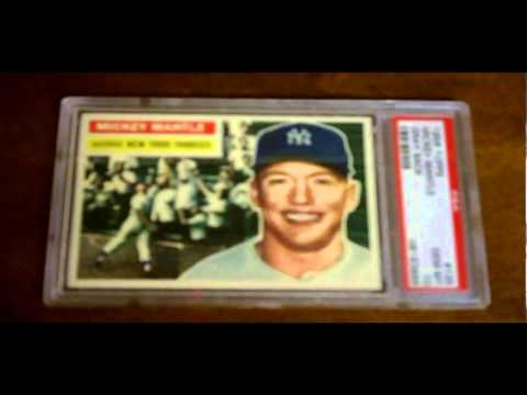1956 Topps 135 Mickey Mantle Grey Back Psa 10