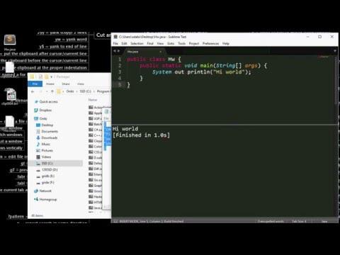 Cara Run Java Di Sublime Text