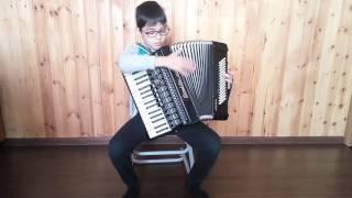 Игра на аккордеоне. Лохин. Латина.