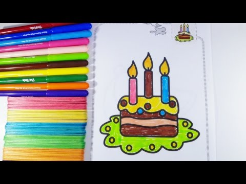 Thumbnail: Birthday Cake Coloring Page