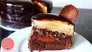 Chocolate Mousse Cake Recipe| Mirror Glaze |  Шоколадный торт