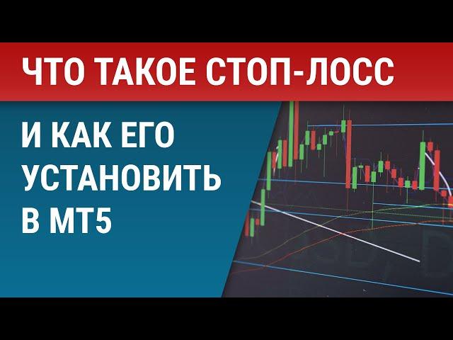 Что такое стоп-лосс на бирже и как его установить в MetaTrader 5 (МТ5)