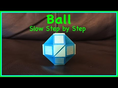 Rubik's Twist Or Smiggle Snake Puzzle Tutorial: How To Make A Ball Shape, Step By Step, Slow