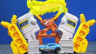 Hot Wheels Downtown Power Plant Blast Playset NEW for 2018!