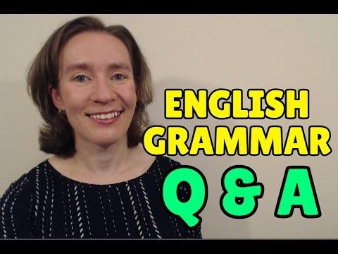 LIVE CLASS - English Grammar Q&A