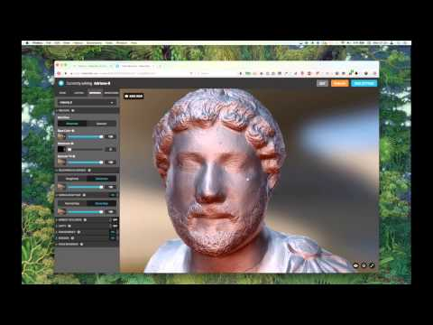 Styling a photoscan with Sketchfab