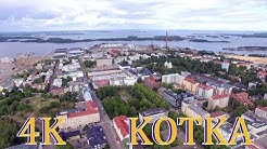 Kotka 4K Bird`s Eye view Finland above Kotkansaari ilmasta 2019