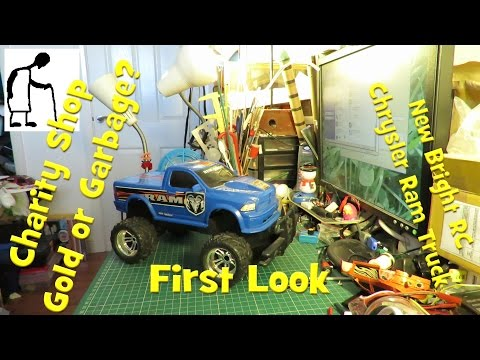Charity Shop New Bright RC Chrysler Ram Truck - First Look