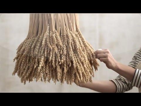 DIY Rustic Wheat Chandelier Martha Stewart Weddings YouTube