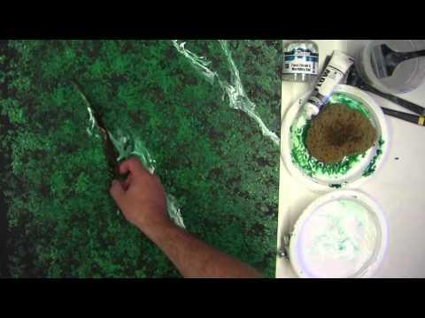 Demonstration: MM16 Matisse Marbling Gel - Black and Green Marble