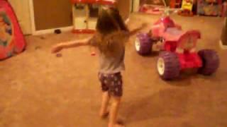 my neice Hailey dancing
