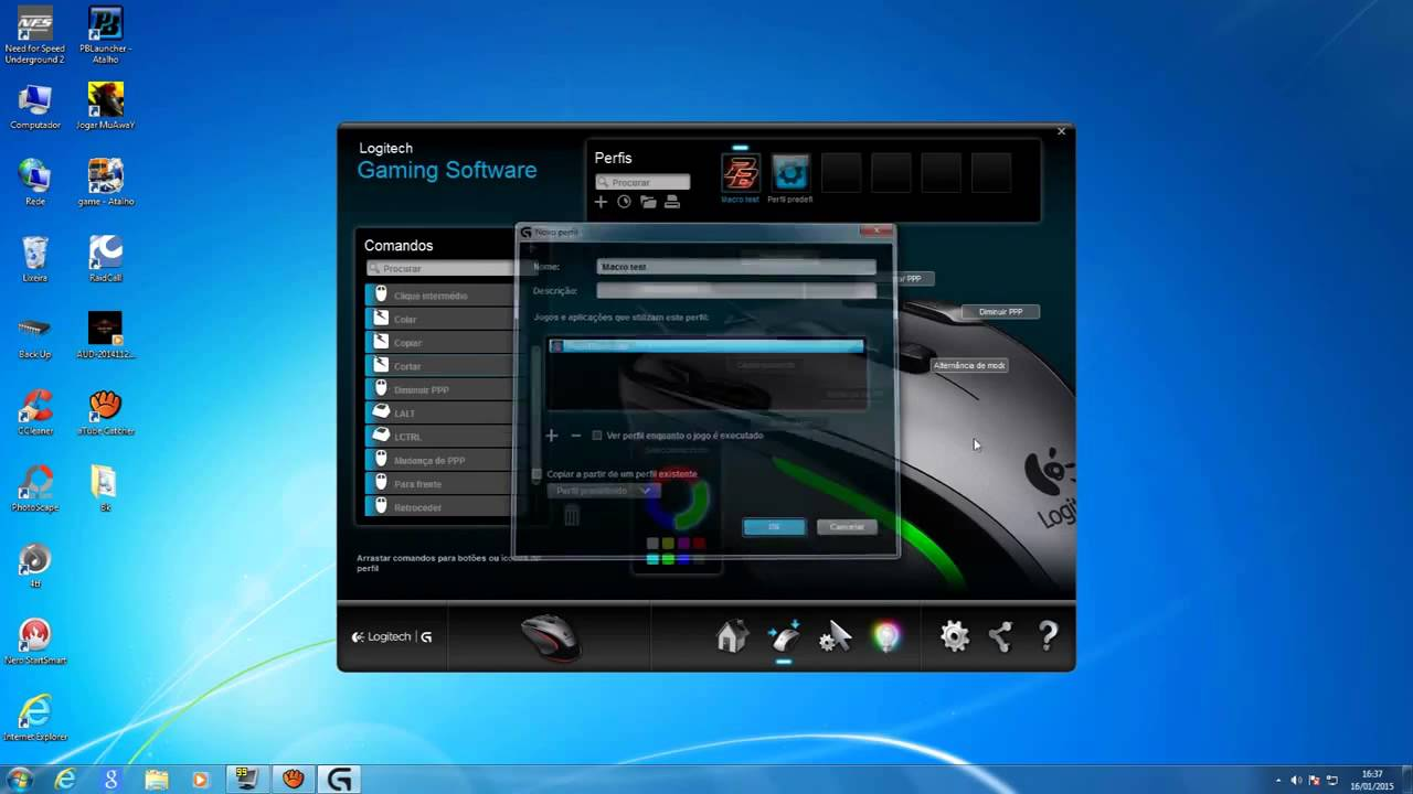 How to make macros logitech mouse