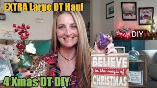 EXTRA EXTRA LARGE Dollar Tree Haul + 4 Xmas DIY's🎄/ gift card giveaway