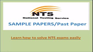 nts test preparation | nts sample papers | nts paper pattern