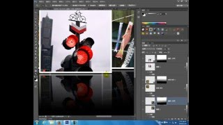 Photoshop影像處理教學(47)-倒影影像合成練習範例