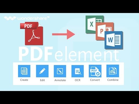 How to Edit PDF and Convert scanned PDF to Word Doc (PDFelement)