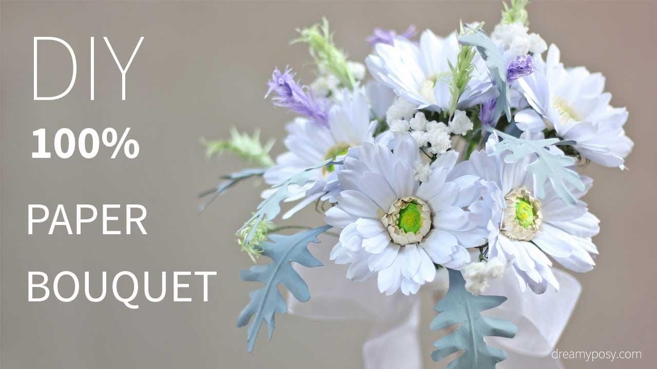 Diy bridal bouquet of gerbera daisy from printer paper free diy bridal bouquet of gerbera daisy from printer paper free template so simple mightylinksfo