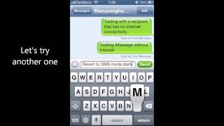 iMessage - send as Text Message option