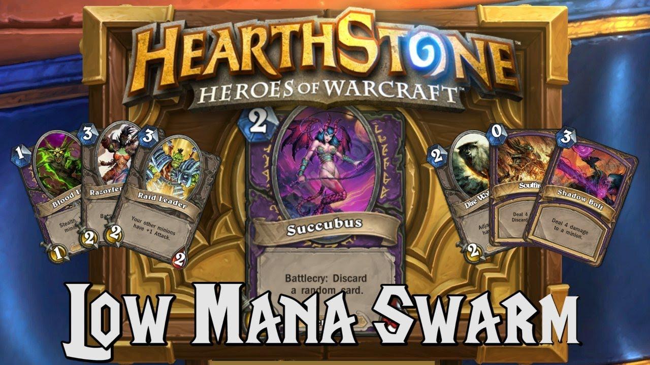Hearthstone Deck Spotlight Low Mana Swarm (warlock)  Youtube