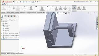 rotary to linear motion mechanism making in solidworks