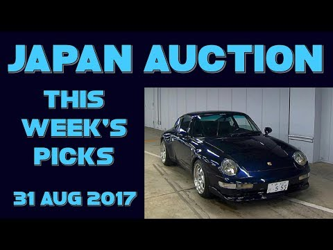 Japan Weekly Auto Auction Picks 035 - 31 Aug 17