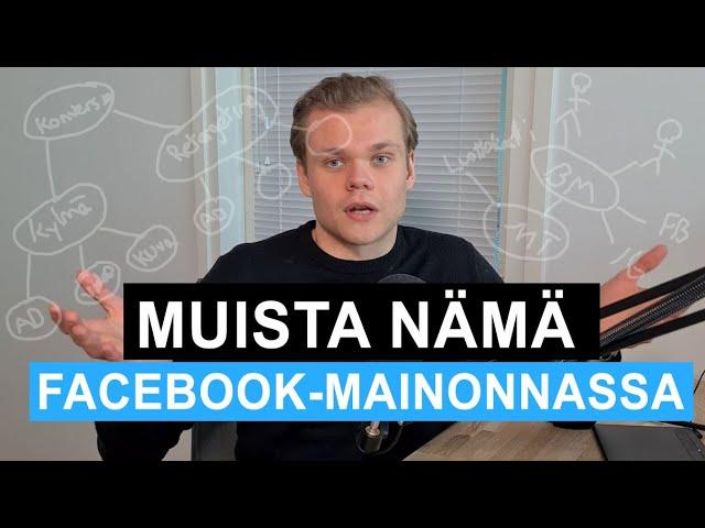 Näin aloitat Facebook-mainonnan