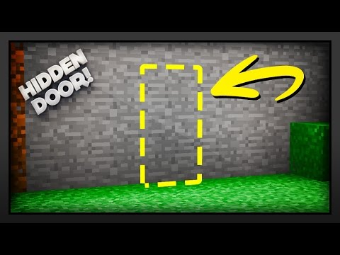 Minecraft - How To Make A Hidden Door