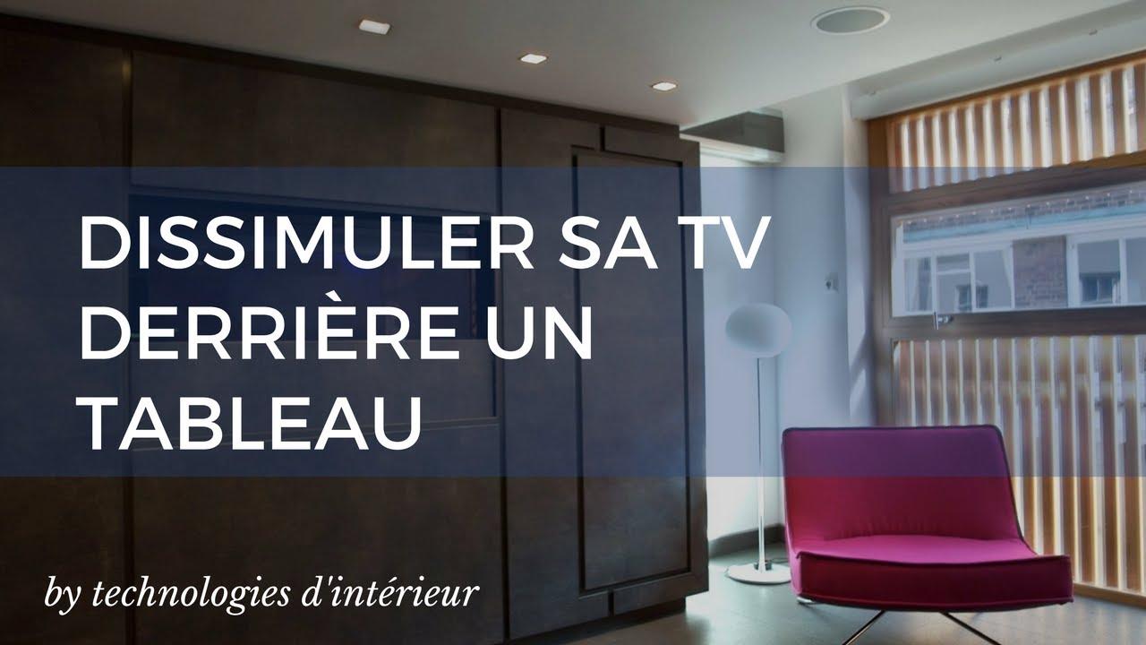 motorisation d ecran comment dissimuler une tv derriere un tableau