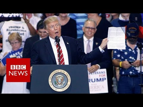 Trump defends Charlottesville response, cuts out key part - BBC News