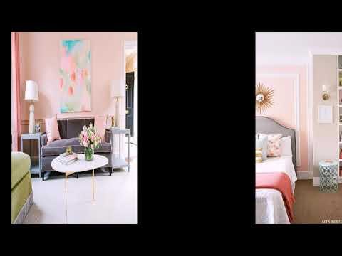 Персиковый цвет в интерьере -  фото проектов и готовых идей