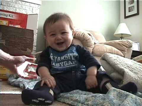 Baby Laughing and Falling Over