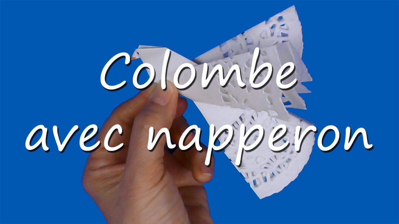 Colombe de la paix avec napperon en papier youtube - Que faire avec des napperons en papier ...