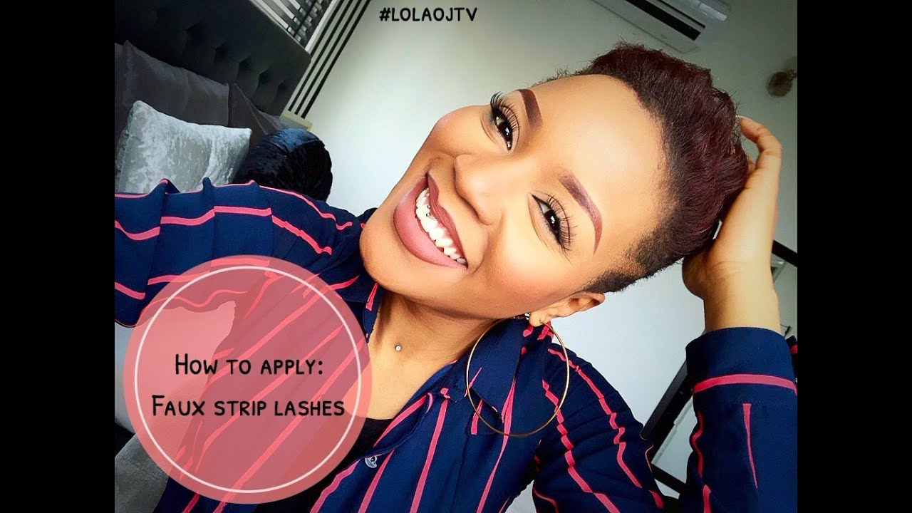 How To Apply Faux Strip Lashes In Seconds Youtube
