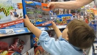 A Trip To The Toy Store Hot Wheels Walmart Shopping For Kids