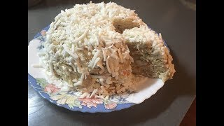 Закусочный Салат с крекером и крабовыми палочками
