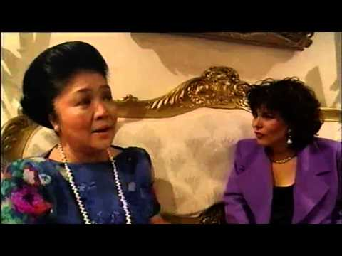 Imelda Marcos describes how her husband filled their walls with gold bullion