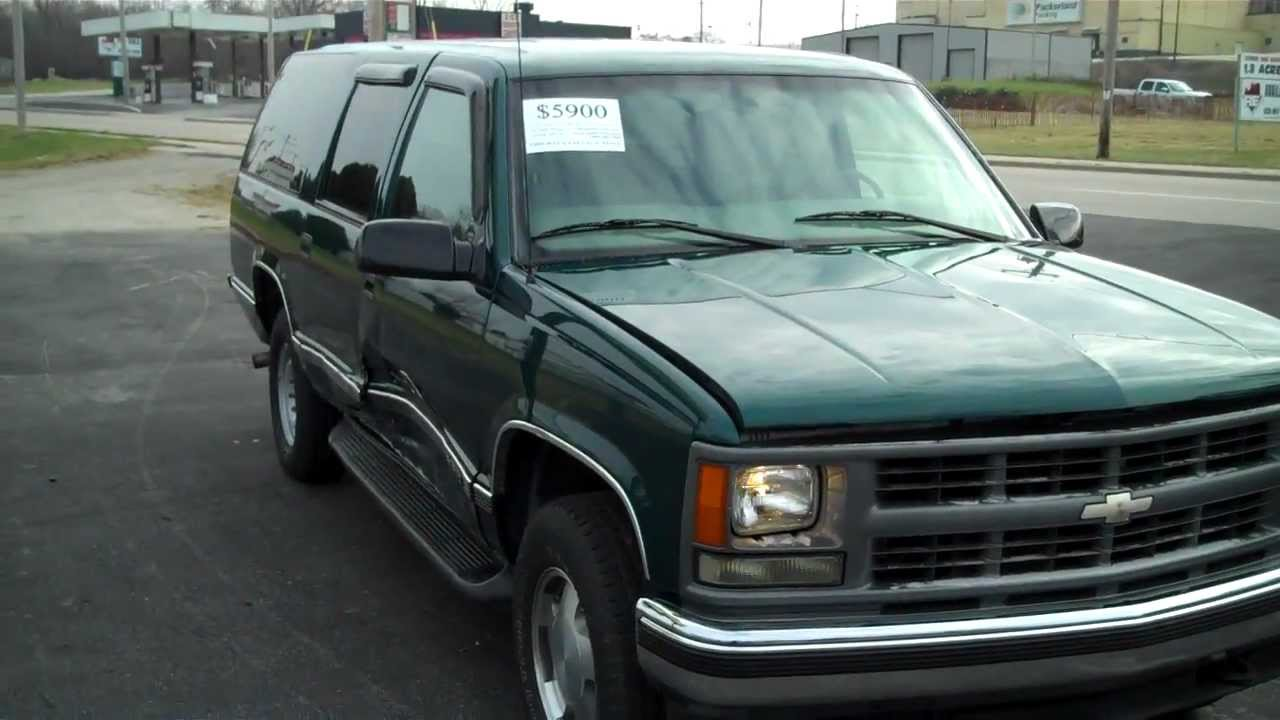 1997 chevrolet suburban k1500 4x4 stock number 4578 repairable damaged salvage